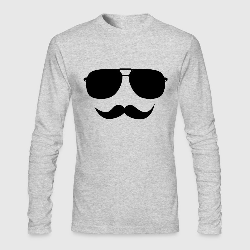 Mustache face - Men's Long Sleeve T-Shirt by Next Level