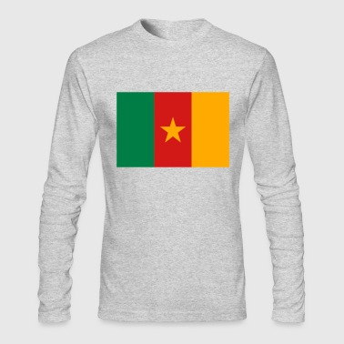 Flag Cameroon (3c) - Men's Long Sleeve T-Shirt by Next Level