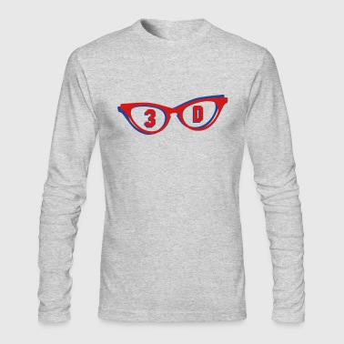 3D glasses in 3D - Men's Long Sleeve T-Shirt by Next Level