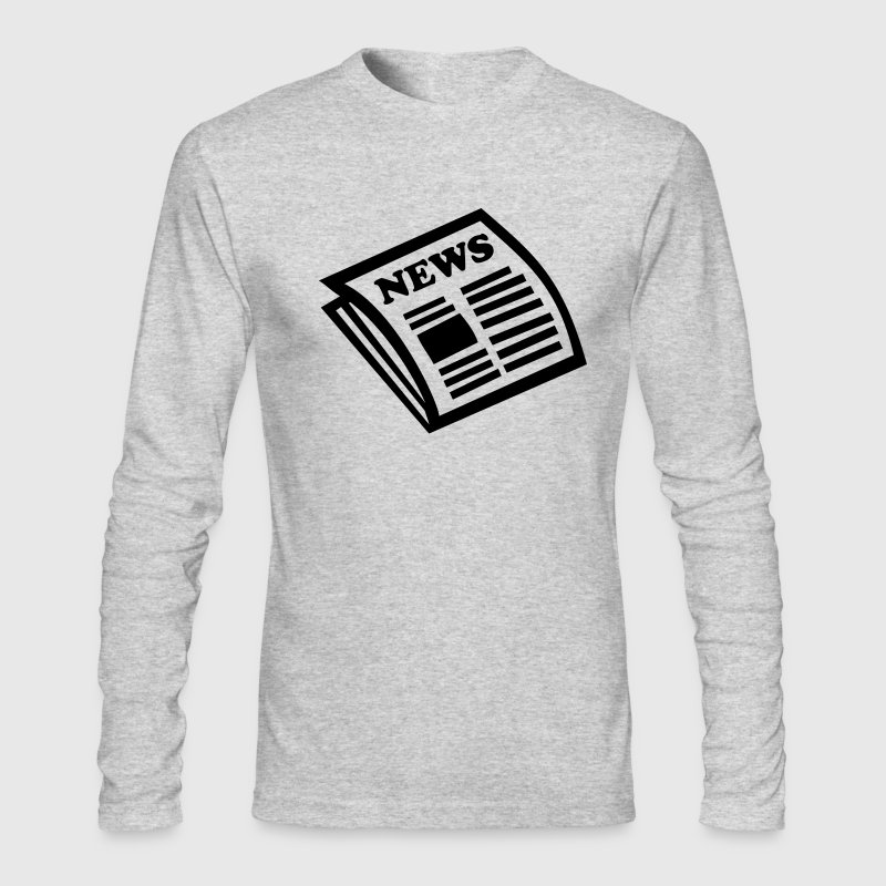 Newspaper - News - Men's Long Sleeve T-Shirt by Next Level