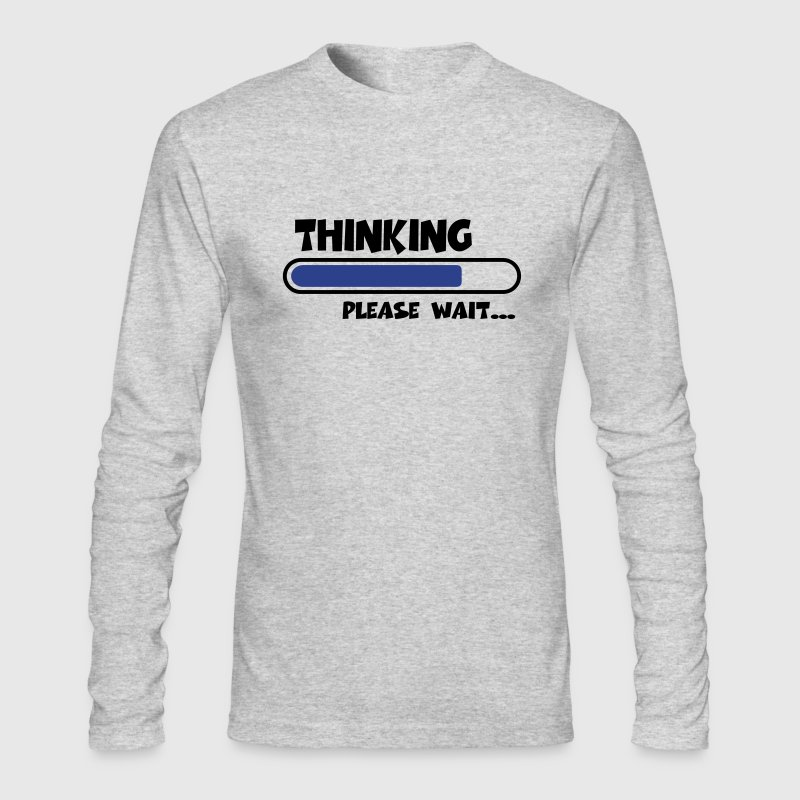 Thinking...please wait... - Men's Long Sleeve T-Shirt by Next Level