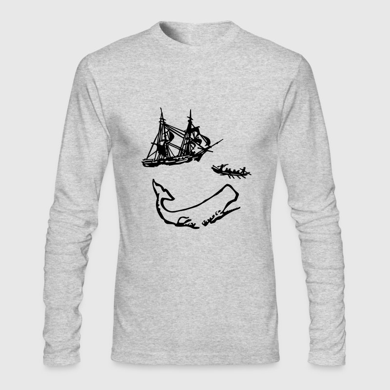 Moby Dick Illustration - Men's Long Sleeve T-Shirt by Next Level