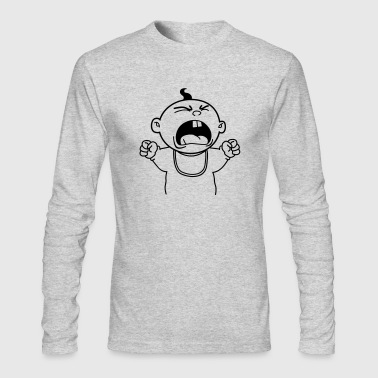 Yelling Baby - Men's Long Sleeve T-Shirt by Next Level