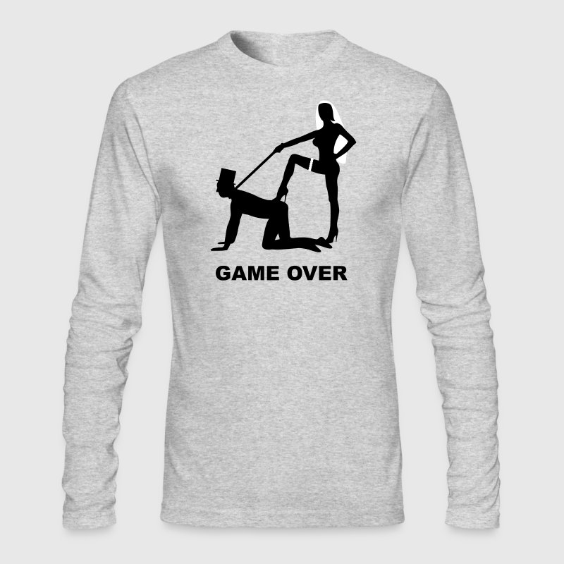game over marriage matrimory wedlock fog haze double heiht heyday nuptials wedding zenith dominatrix lash whip slave bondman sex - Men's Long Sleeve T-Shirt by Next Level