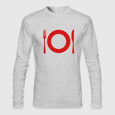 Cutlery - Plate - Men's Long Sleeve T-Shirt by Next Level