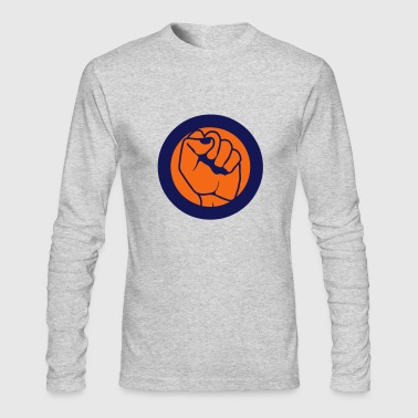 closed fist logo stamp - Men's Long Sleeve T-Shirt by Next Level