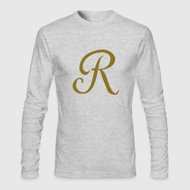 R - Letter - Men's Long Sleeve T-Shirt by Next Level