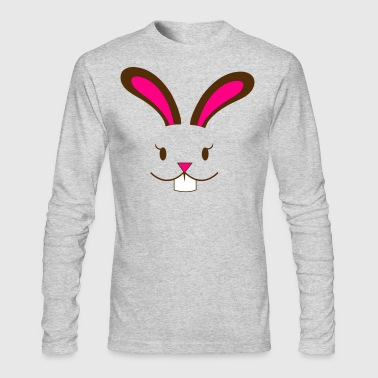 easter bunny rabbit girl - Men's Long Sleeve T-Shirt by Next Level