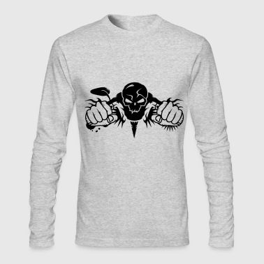 Skull Motorcycle - Men's Long Sleeve T-Shirt by Next Level