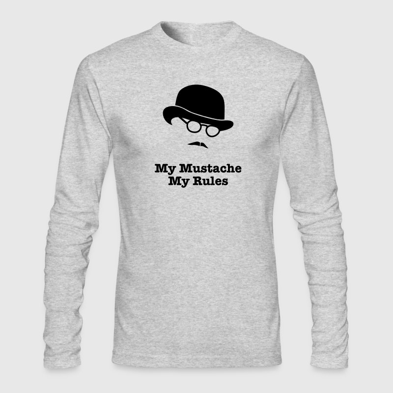 MY MUSTACHE - MY RULES bowler hat glasses - Men's Long Sleeve T-Shirt by Next Level
