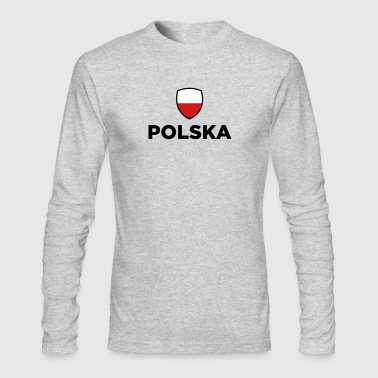 National Flag of Poland - Men's Long Sleeve T-Shirt by Next Level
