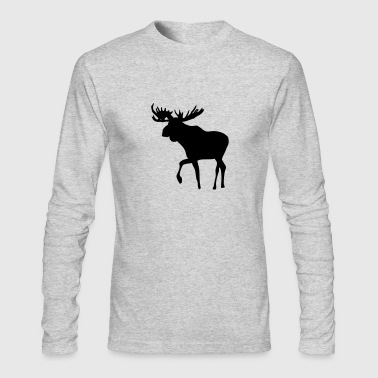 Moose - Men's Long Sleeve T-Shirt by Next Level