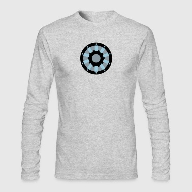 Ark White Arc Reactor Long Sleeve Shirts - Men's Long Sleeve T-Shirt by Next Level