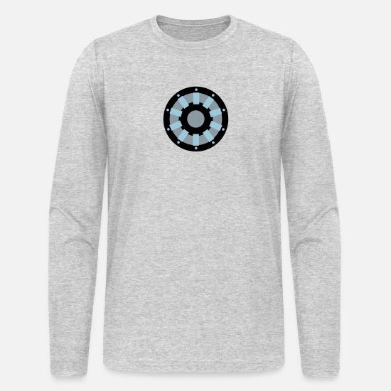 White Arc Reactor Long Sleeve Shirts Men's Long Sleeve T-Shirt by Next  Level - heather gray