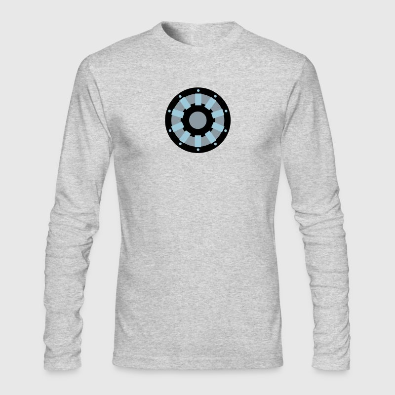 White Arc Reactor Long Sleeve Shirts - Men's Long Sleeve T-Shirt by Next Level