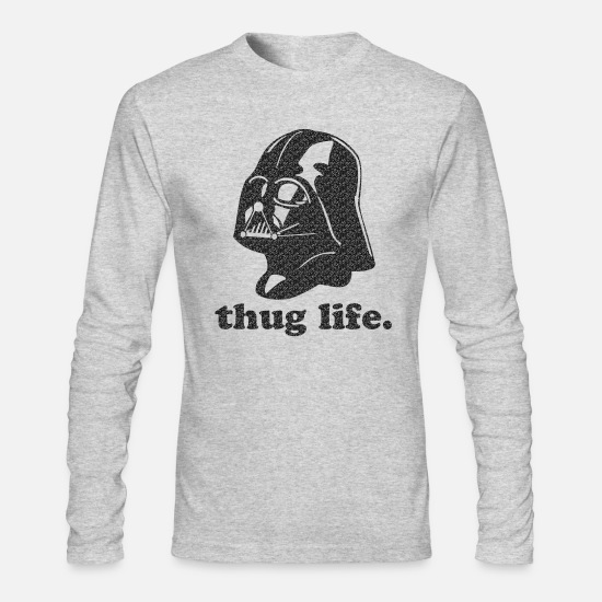 Geek Long-Sleeve Shirts - Darth Vader Thug Life - Men's Longsleeve Shirt heather gray