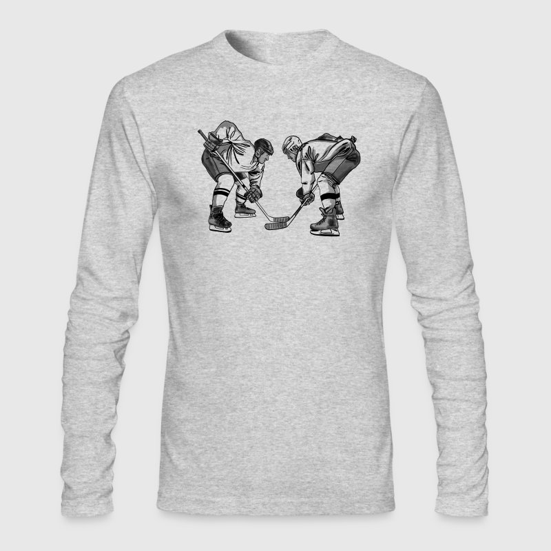 Eishockey face off - Men's Long Sleeve T-Shirt by Next Level