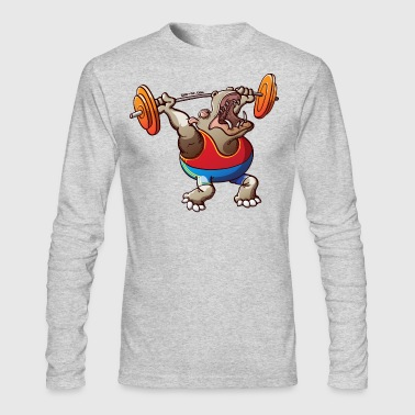 Olympic Weightlifting Hippopotamus - Men's Long Sleeve T-Shirt by Next Level