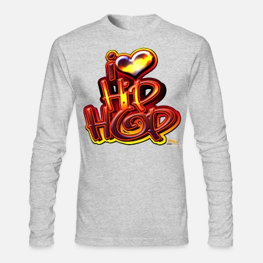 Love I LOVE HIP-HOP - Men's Long Sleeve T-Shirt by Next Level