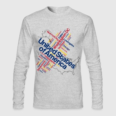 USA - Men's Long Sleeve T-Shirt by Next Level