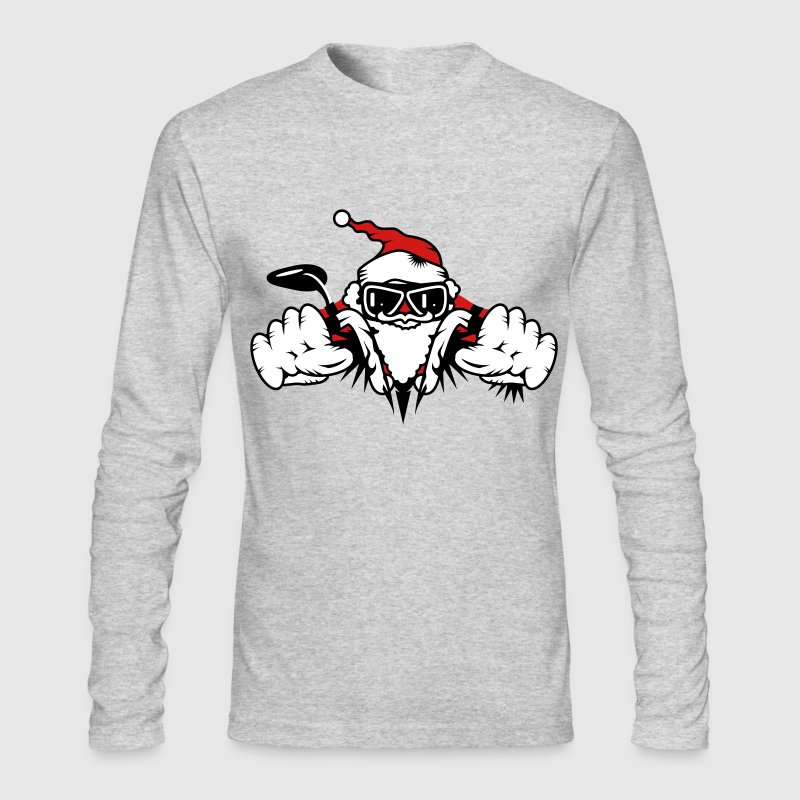 Santa Claus on Motorcycle - Men's Long Sleeve T-Shirt by Next Level