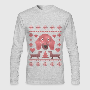 Dachshound Xmas - Men's Long Sleeve T-Shirt by Next Level