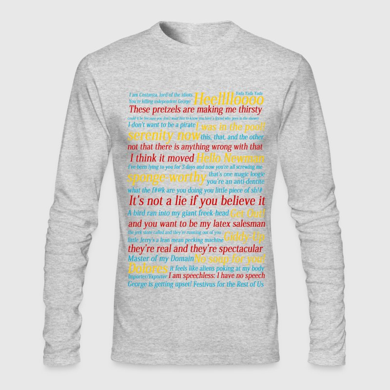Seinfeld References - Men's Long Sleeve T-Shirt by Next Level