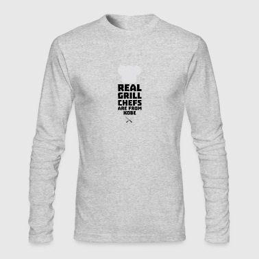 Real Grill Chefs are from Kobe Sf9y7 - Men's Long Sleeve T-Shirt by Next Level