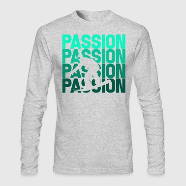 Snowboard, Snowboarder - Passion Snowboarding - Men's Long Sleeve T-Shirt by Next Level