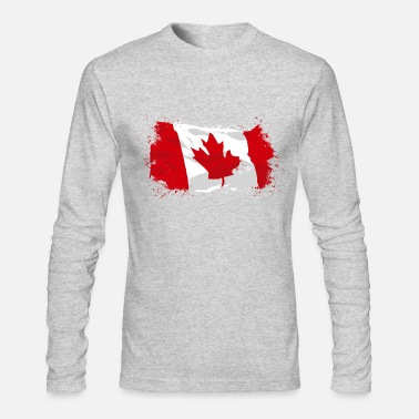 Canada Canada Flag - Men's Long Sleeve T-Shirt by Next Level