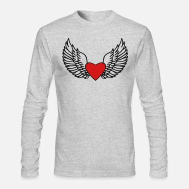 Heart With Wings Heart and Wings - Men's Long Sleeve T-Shirt by Next Level