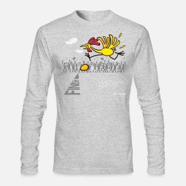 Long Sleeves Work White Chicken and Egg: scrambled forever? Long Sleeve Shirts - Men's Long Sleeve T-Shirt by Next Level