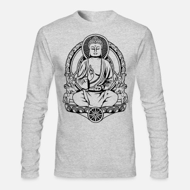 Gautama Buddha Lines - Men's Long Sleeve T-Shirt by Next Level