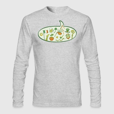 Saint Patrick's Day Speech Balloon - Men's Long Sleeve T-Shirt by Next Level