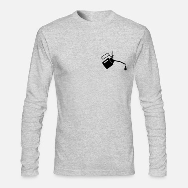 Oil An oil can and oil drop  - Men's Long Sleeve T-Shirt by Next Level