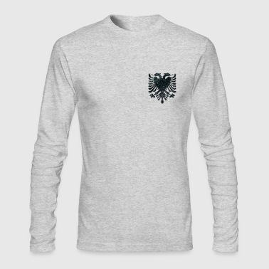 ALBANIA (leather effect) - Men's Long Sleeve T-Shirt by Next Level