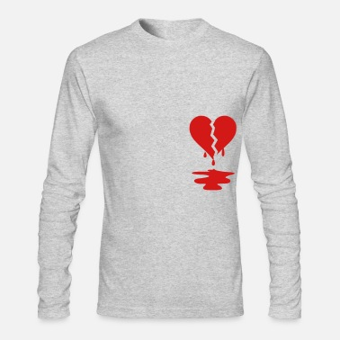 Broken Broken Heart - Men's Long Sleeve T-Shirt by Next Level