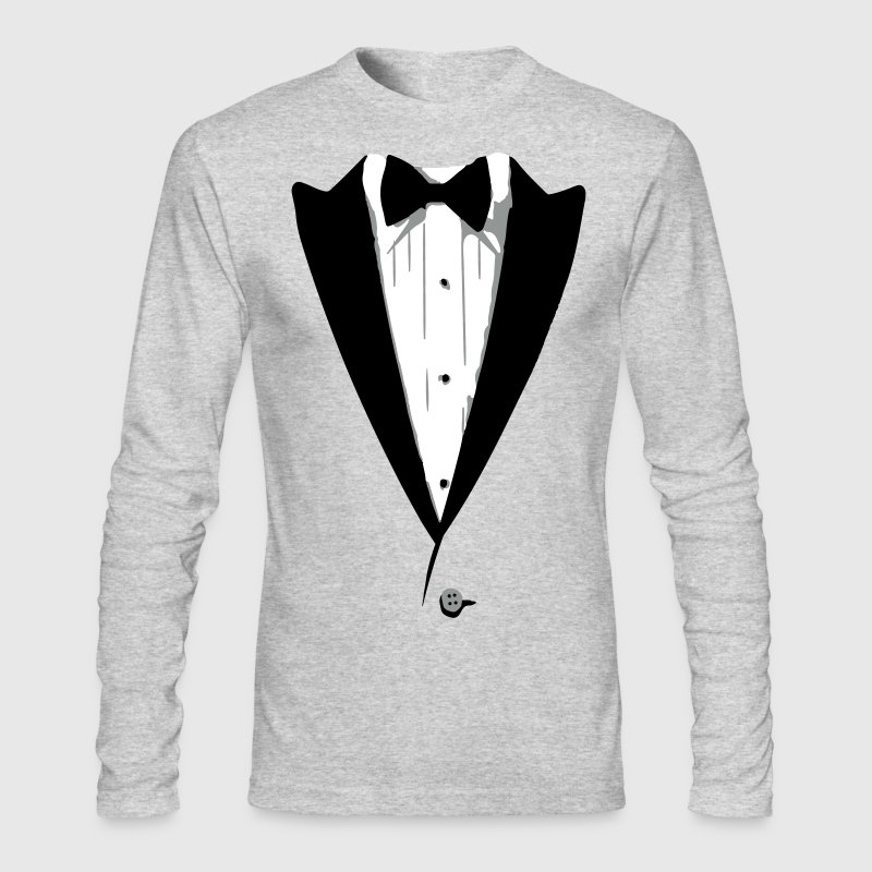 Custom Color Tuxedo Tshirt - Men's Long Sleeve T-Shirt by Next Level