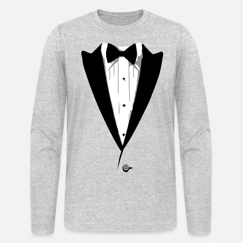b4dfca79 Custom Color Tuxedo Tshirt Men's Longsleeve Shirt | Spreadshirt