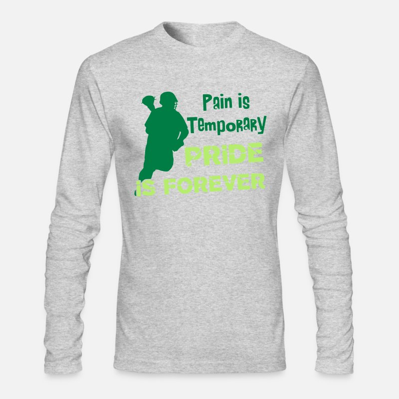 Lacrosse Long sleeve shirts - Pain Is Temporary (Lacrosse) - Men's Longsleeve Shirt heather gray