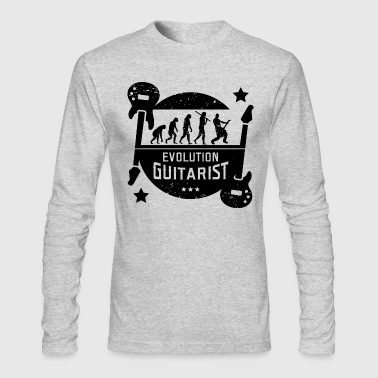 Musician Evolution Guitarist - Men's Long Sleeve T-Shirt by Next Level