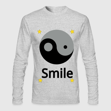 Smile Yin Yang - Men's Long Sleeve T-Shirt by Next Level