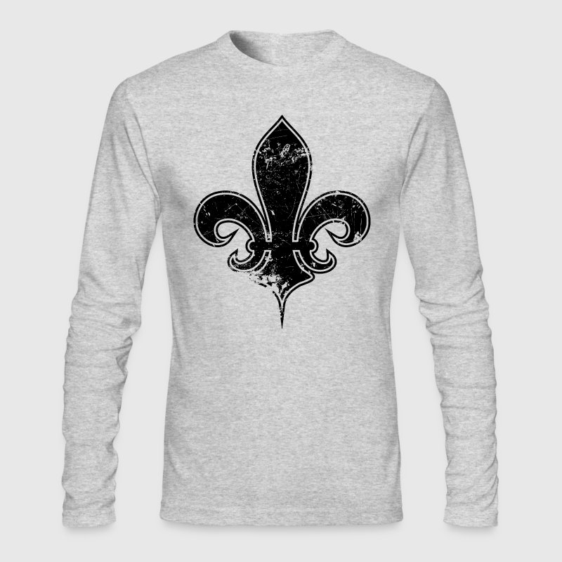 fleur de lis destroyed - Men's Long Sleeve T-Shirt by Next Level