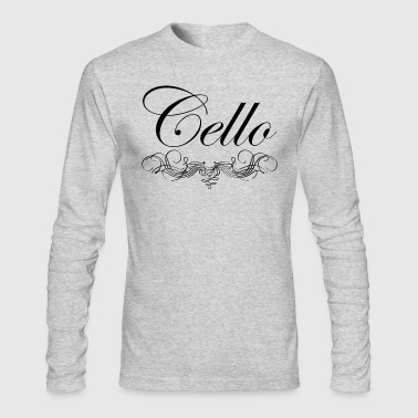 Cello Script - Men's Long Sleeve T-Shirt by Next Level