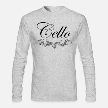 Script Cello Script - Men's Long Sleeve T-Shirt by Next Level