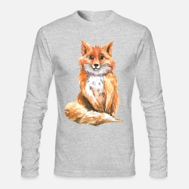 Watercolor Watercolor fox - Men's Long Sleeve T-Shirt by Next Level