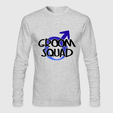 groom_squad_wedding_party - Men's Long Sleeve T-Shirt by Next Level