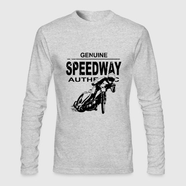 Speedway Motorcycle Speedway Racer - Men's Long Sleeve T-Shirt by Next Level