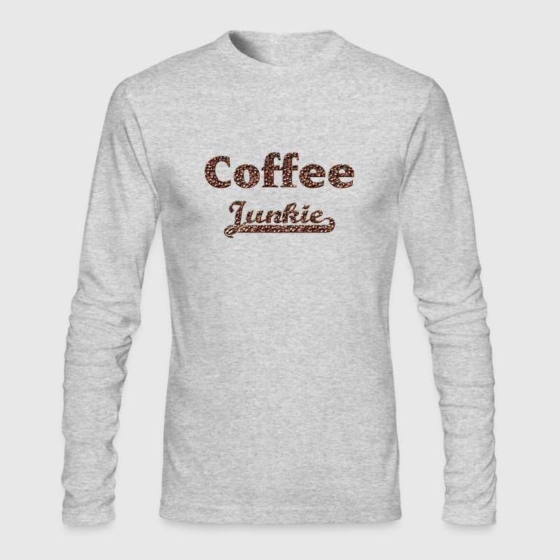 coffee junkie - Men's Long Sleeve T-Shirt by Next Level