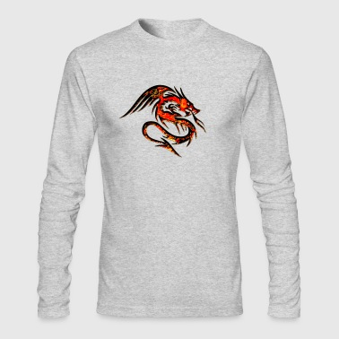 Dragon fire , digital, red - Men's Long Sleeve T-Shirt by Next Level